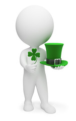 3d small people - Saint Patrick