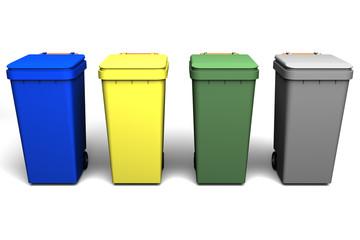 cubos para reciclar
