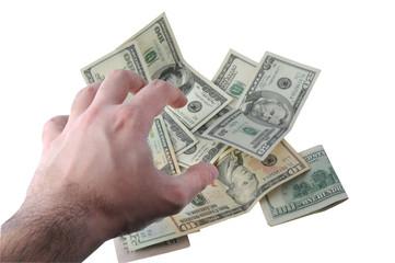 Hand Grabbing Money