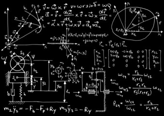 Mechanical formulas and sketches