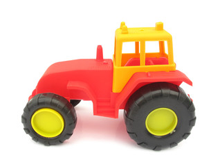 Tractor red plastic toy