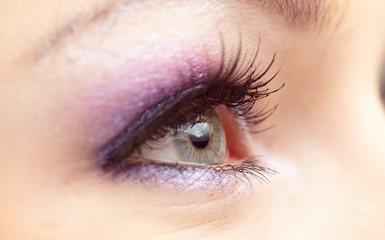 Woman eye with  fashion make-up