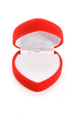 Red Heart Shaped Jewel Box