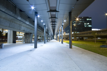 Perspective of the passage at business centre