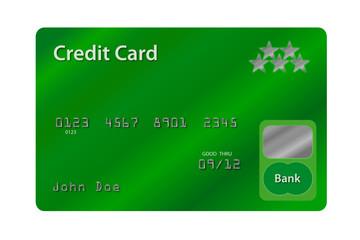 Kreditkarte grün
