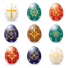 Shining Eggs Christian Symbolic