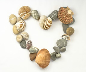 Heart shaped with sea stones