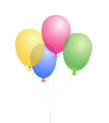 vector colored balloons isolated