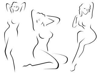 Abstract female models vector