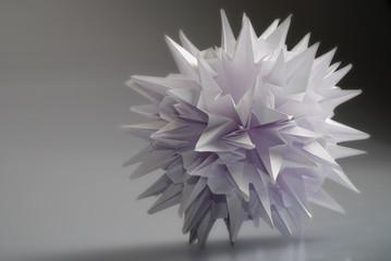 Fond de hotte en verre imprimé Nénuphars Origami kusudama Virus