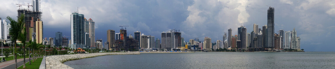 Panorama of Panama City skyline