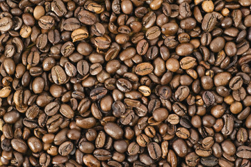 Background from coffee grains