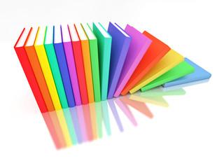 Colorful books row