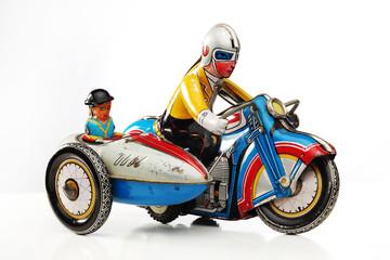 retro tin toy racer