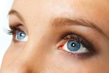 staring female blue eyes