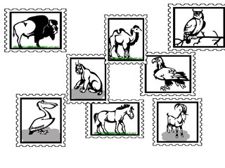 animals stamps