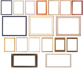 Group Of Pictures Frames Isolated On White Background