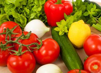 Fotobehang Keuken Healthy fresh vegetables