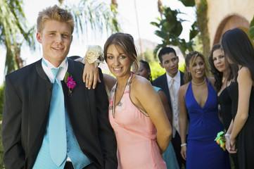 Teenage Couple at Social Dance
