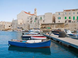 Landscape view of Giovinazzo seaport. Apulia.