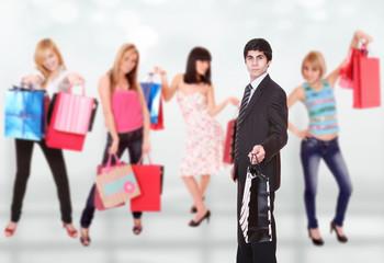 Shopping man
