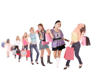 Shopping women group