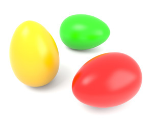 Three color eggs