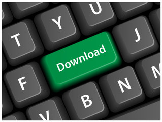 DOWNLOAD key on keyboard (internet online keys button vector)