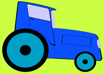 Colorful toy car isolated on yellow background