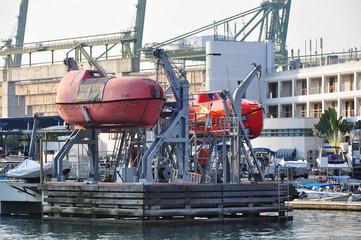 life boat at the shipyard