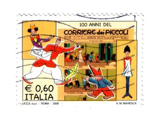 Italian post stamp, anniversary Children's Courier