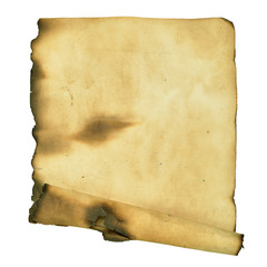 Burnt manuscript