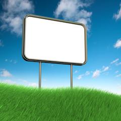 Billboard on grass