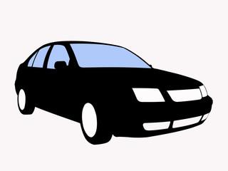 freigestelltes Auto