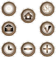 original buttons patterned