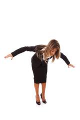 Loosing her balance