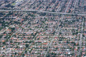 Aerial view of residential houses in Texas