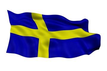 Drapeau Suedois Suede