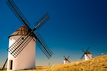 Windmills at La Mancha, Spain