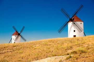 Windmills at La Mancha, Spain