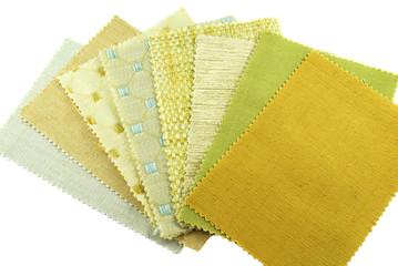 various samples choice of fabric