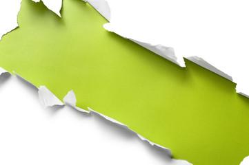 Torn paper stripe