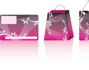 Pink shopping set.