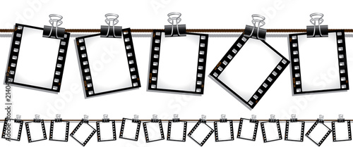 Seamless film stip illustration stock image and royalty - Clipart cinema gratuit ...