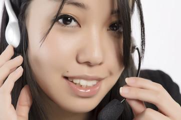 Woman phone operator