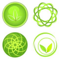 Green concept vector set