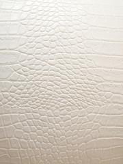 Printed roller blinds Crocodile Leder Kroko Weiss