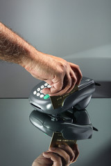 Swipe and Sign Point of Sale card reader.