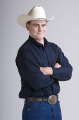 Cowboy in blue