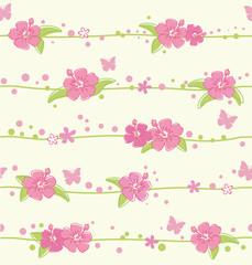 seamless pattern hibiscus